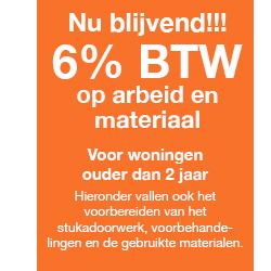 6% BTW regeling - afbouw